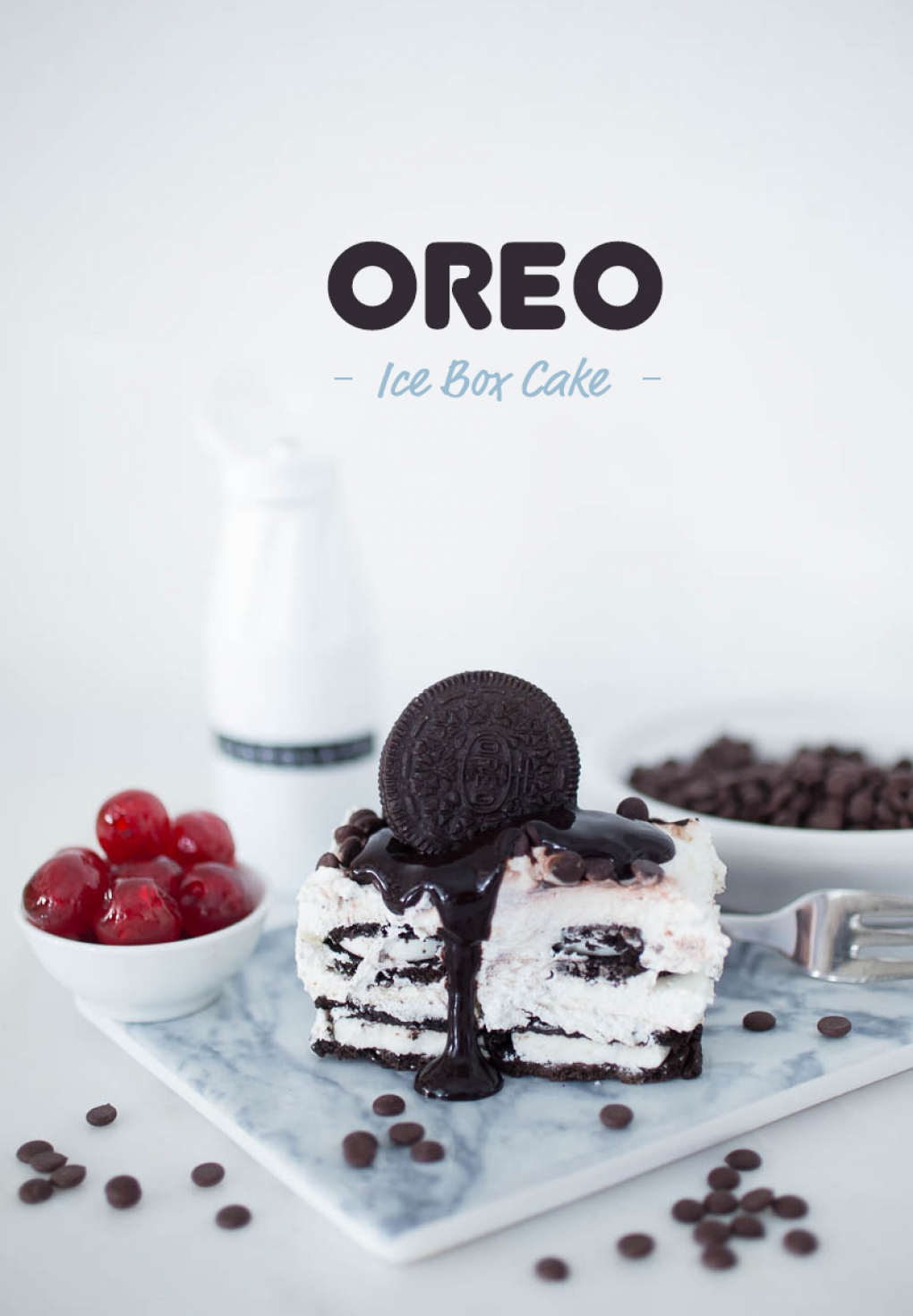 Oreo Ice Box Cake-Sweet Trolley