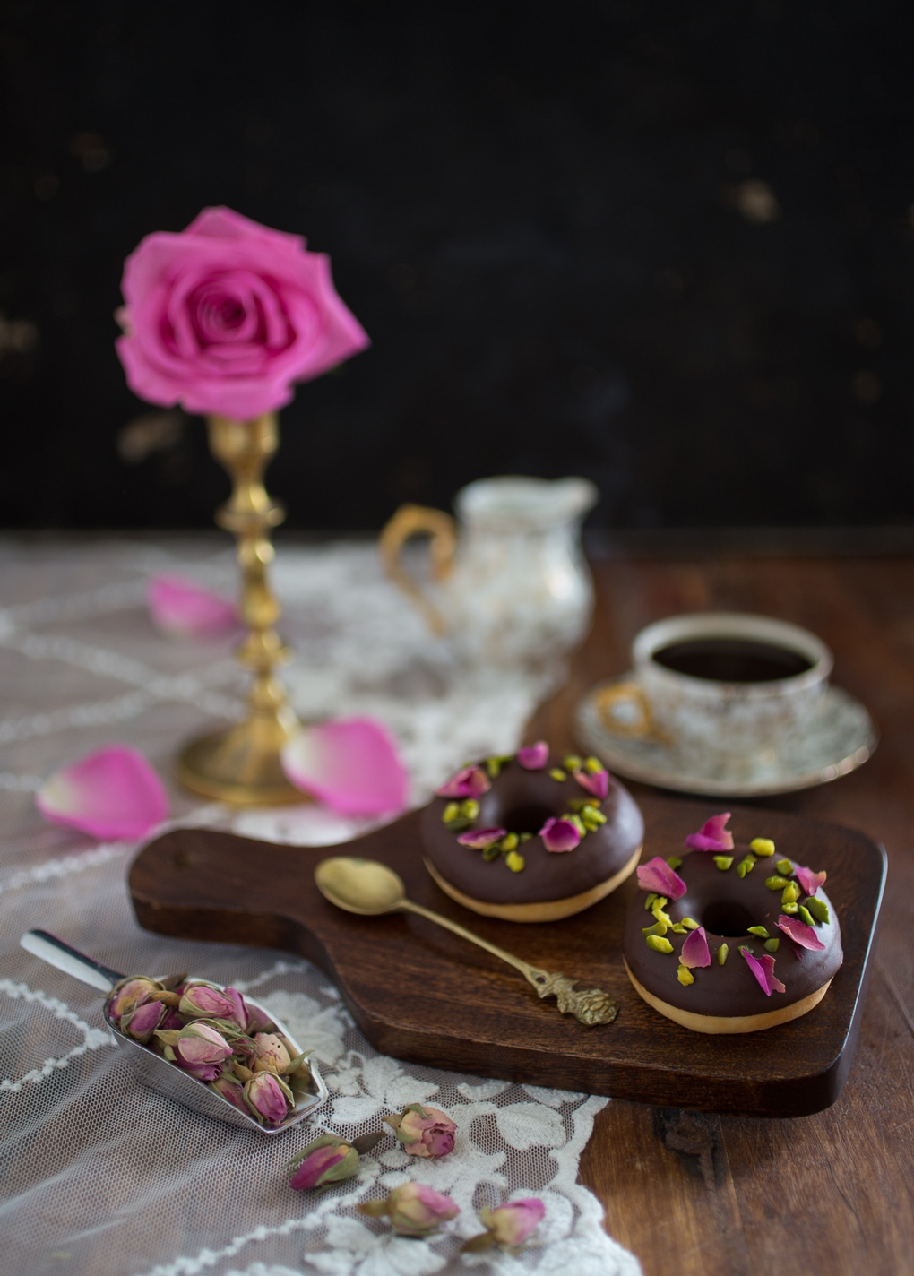 Rose-Chocolate-Donuts-Recipe-Blog