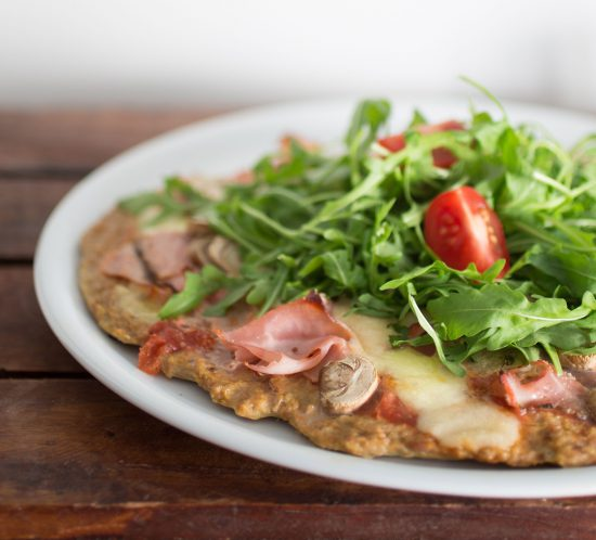 Low-Carb-Thunfisch-Pizzaboden