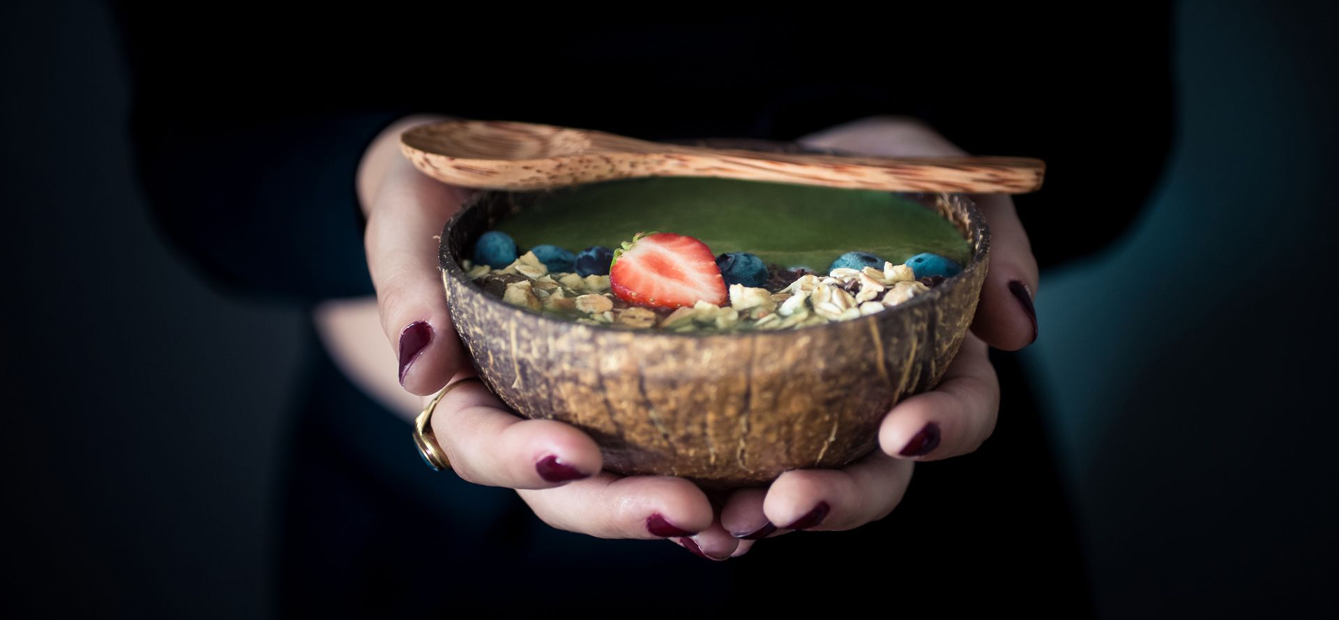 Gruene Smoothie Bowl Rezept
